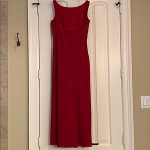Sophisticated red formal dress with bow